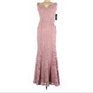 Lulu's Empire Neckline Mauve Blush Maxi Dress NWT